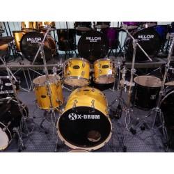 X-Drum Kit Batteria acustica in acero al 100% col. Ambra