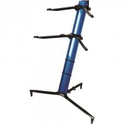 Quiklok SL913BL Supporto tastiera blu metallizzato