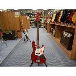Squier Jazz Bass Contemporary rosso metalizzato