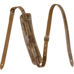 Fender Vintage-Style Distressed Leather Strap Brown
