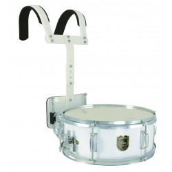 "Mi.Lor Marching drum 14""x5.5"" with carrier white"