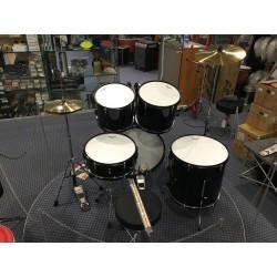 Mi.Lor Drum L-1010 BK Drum Set 5 pezzi completa di meccaniche piatti sgabello colore nero