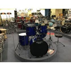 Mi.Lor Drum L-1010 BL Drum Set 5 pezzi completa di meccaniche piatti sgabello colore blu