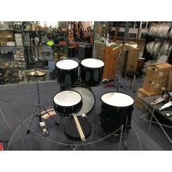 L-1010 GR Drum Set 5 pezzi completa di meccaniche piatti sgabello colore verde Mi.Lor Drum