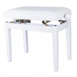 Mi.Lor SB018 panca per pianoforte bianca