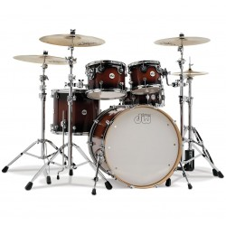 Drum Workshop shell set design Tobacco Burst escluso di Hardware e Piatti