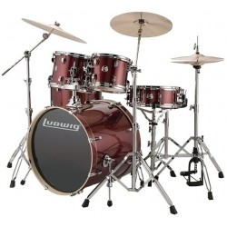 Ludwig LCEE200-25 Batteria acustica Red Wine Sparkle