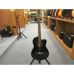 Fender CN-140SCE Nylon Thinline Black w/case
