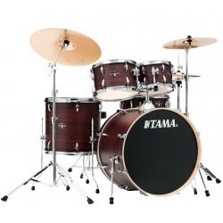 Tama Imperialstar Drum Kits Burgundy Walnut Wrap - Piatti non inclusi