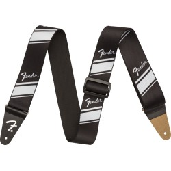 Fender Competition Stripe Strap Silver