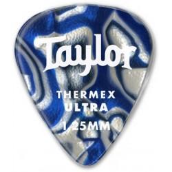 Taylor Confezione da 6 plettri Premium 351 Thermex Ultra Guitar Picks Blue Swirl 1,0 mm