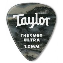 Taylor Confezione da 6 plettri Premium 351 Thermex Guitar Picks Black Onyx 1,0 mm
