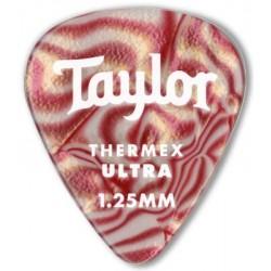 Taylor Confezione da 6 plettri Premium 351 Thermex Ultra Guitar Picks Ruby Swirl 1,0 mm