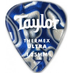 Taylor Confezione da 6 plettri Premium 351 Thermex Ultra Guitar Picks Blue Swirl 1,25 mm