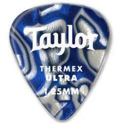 Taylor Confezione da 6 plettri Premium 351 Thermex Ultra Guitar Picks Blue Swirl 1,5 mm