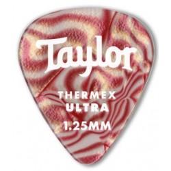 Taylor Confezione da 6 plettri Premium 351 Thermex Ultra Guitar Picks Ruby Swirl 1,5 mm