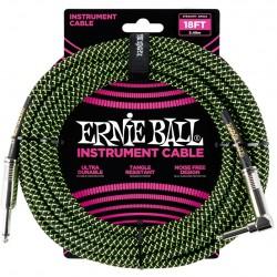 Ernie Ball 6082 Cavo Braided Black/Green 5,49 m