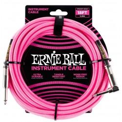 Ernie Ball 6083 Cavo Braided Neon Pink 5,49 m