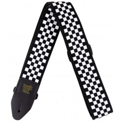 Ernie Ball 4149 Tracolla Black and White Checkered Jacquard
