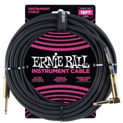 Ernie Ball 6086 Cavo Braided Black Gold Tips 5,49 m