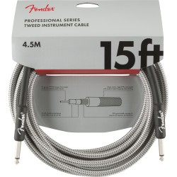 Fender Professional Series Instrument Cable 15' White Tweed