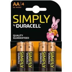 Duracell Stilo alcalina AA Simply Blister da 4pz